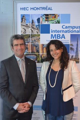 Tanïa Chalifoux en compagnie de Claude Lauzon, directeur de la CDEC Côte-des-Neiges!