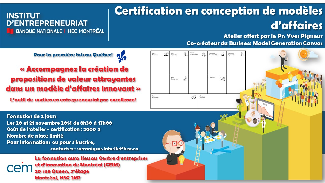 Atelier-Certification en conception de modèles d'affaires