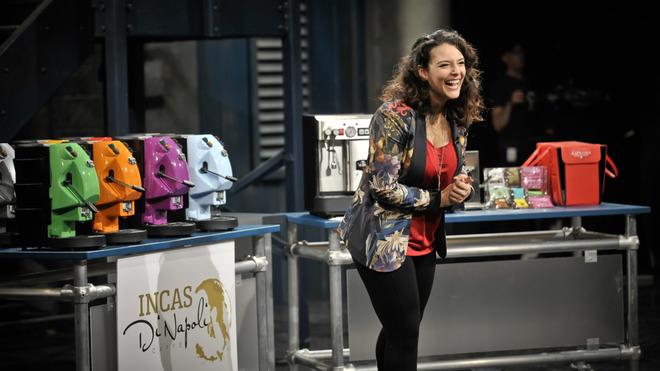Taïna Chalifoux lors de son passage à l'émission « Dans l'oeil du dragon » Photo: Radio-Canada
